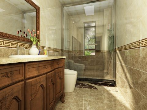 卫生间细节新中式风格装饰图片