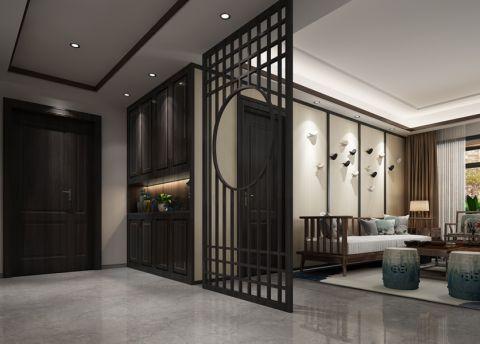 玄关隔断新中式风格装饰设计图片