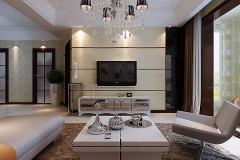上海滩华府现代风格100平2室装修效果图