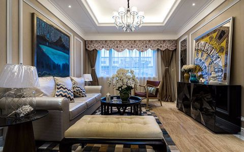 92平美式风格两居装修效果图