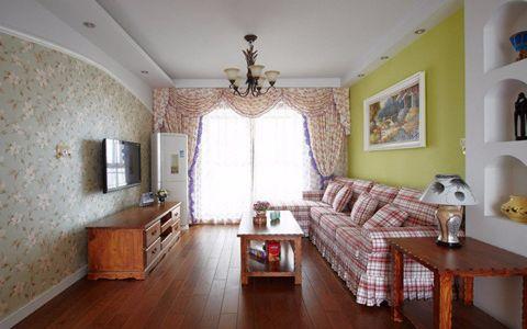 100平米田园风格三居室装修效果图