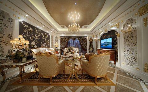天润国际花园135平欧式风格三居室装修效果图