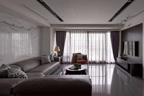 融信白宫110平现代简约风格三室两卫装修实景图