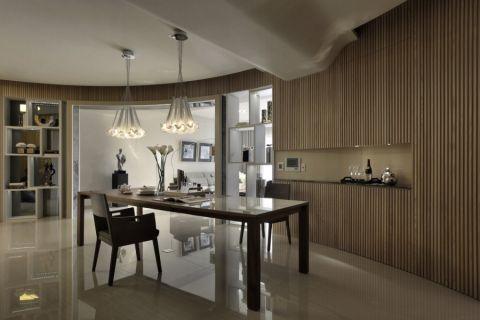 餐厅博古架现代风格效果图
