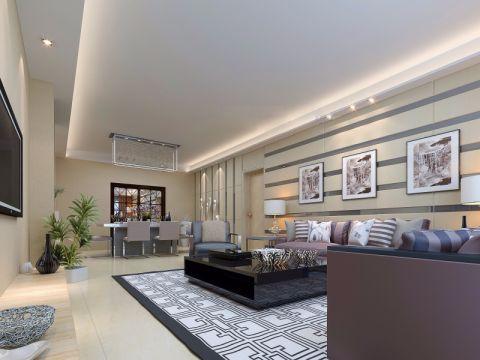 双湖新城一区90平简约风格三居室装修效果图