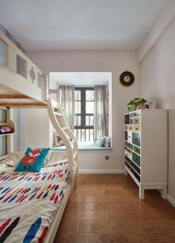 卧室飘窗北欧风格装修图片