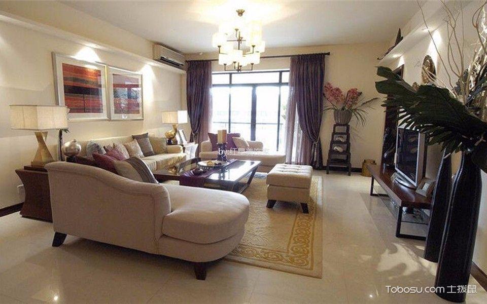 110平米中式风格四居室装修效果图