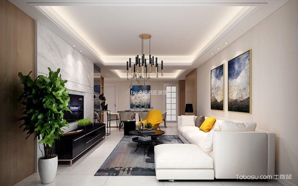 安百苑125平方三室两厅现代简约风格设计案例赏析
