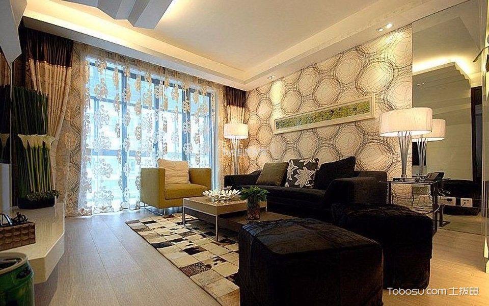 万科新都汇90平米现代风格两居室装修效果图