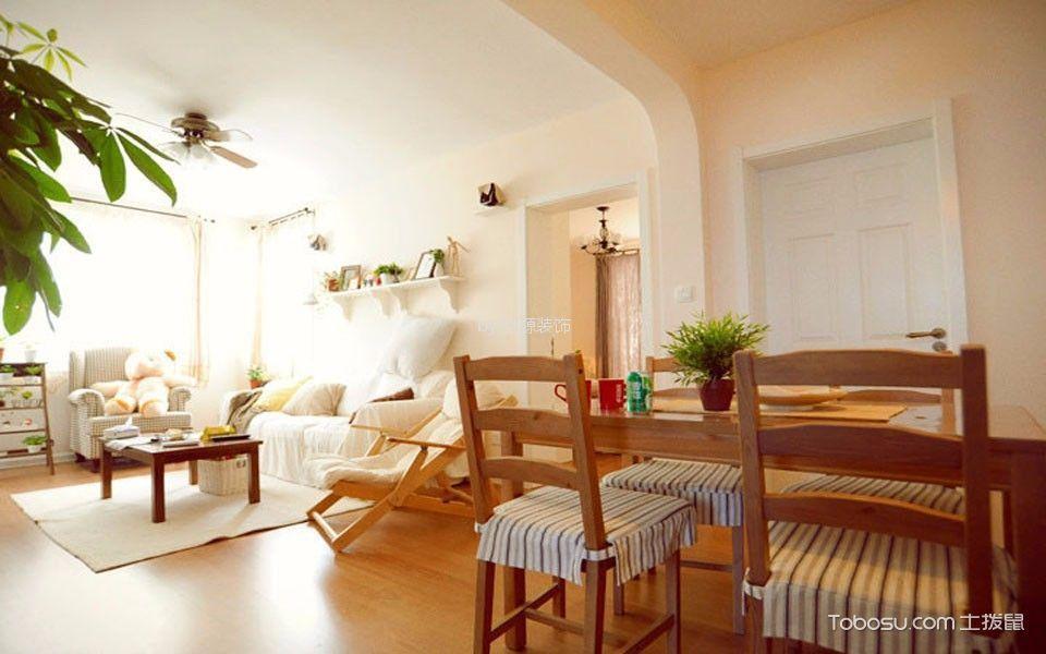 绿野春天89平米现代两居装修效果图