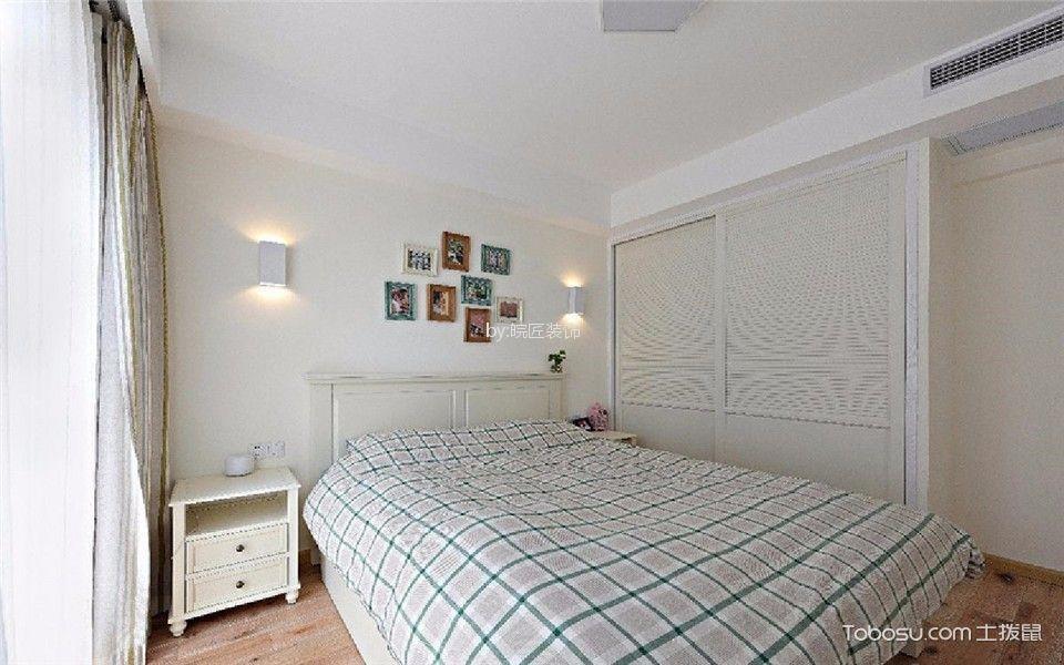 卧室白色背景墙现代简约风格装饰图片