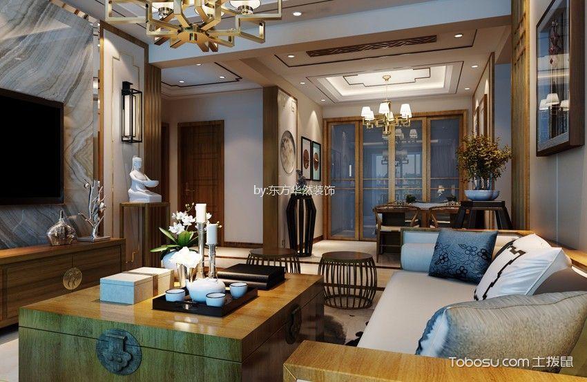 新中式三室装修效果图