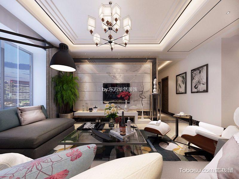 曲江龙邸136平新中式风格三居室装修效果图