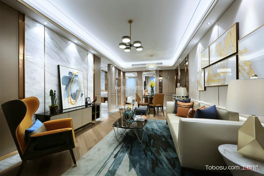 雅居乐131平现代简约三居室装修效果图