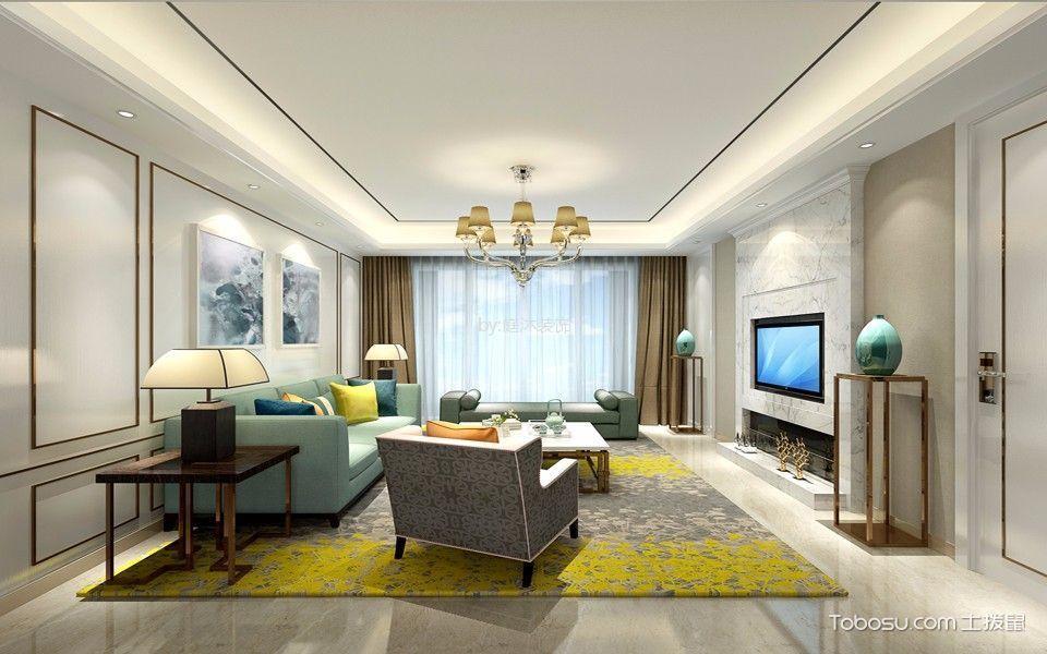 九扬香郡125平方三房现代简约风格效果图