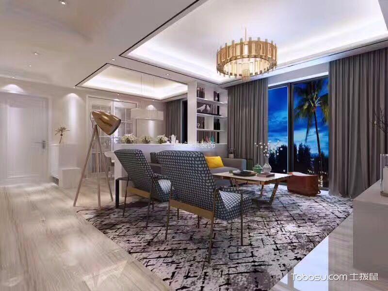 客厅咖啡色吊顶现代风格装饰图片