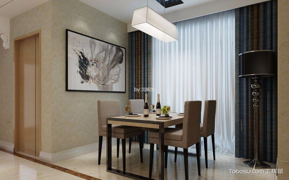 龙津公寓97m2现代风格装修效果图