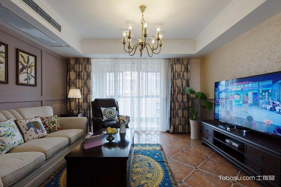 阿卡迪亚120平美式风格三居室装修效果图
