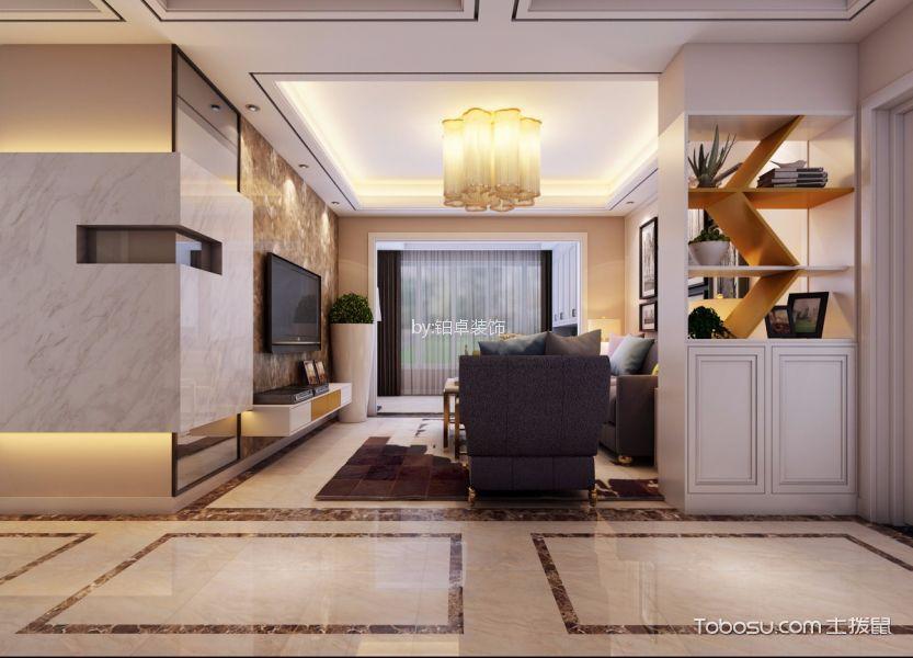 客厅白色隔断简约风格装饰图片