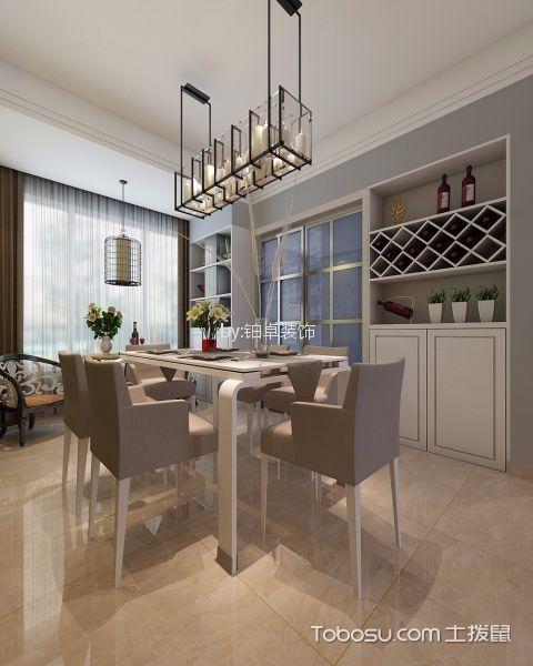 餐厅白色餐桌简中风格装修效果图