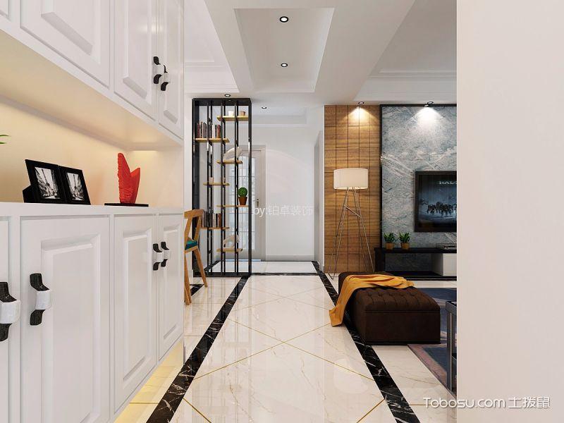 客厅白色门厅现代简约风格装修设计图片