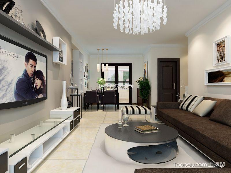 客厅白色细节现代简约风格装修图片