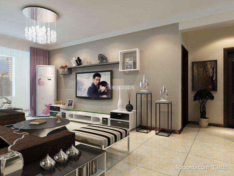 客厅灰色走廊现代简约风格装潢图片