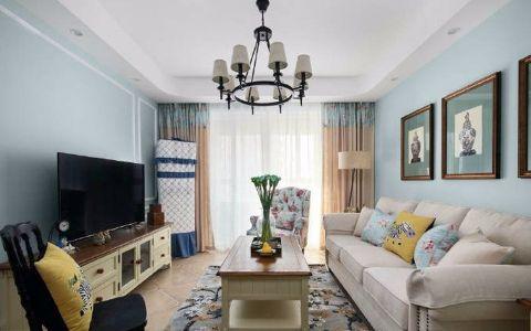 90平米美式风格三居室装修效果图