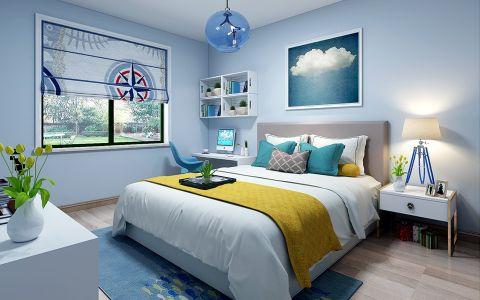 儿童房背景墙现代简约风格装潢图片