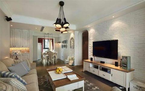 托斯卡纳89平美式风格三居室效果图