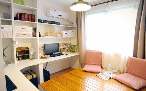 书房白色飘窗现代风格装潢设计图片