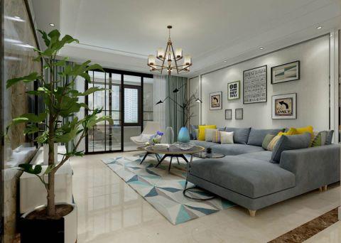 泰安山语官邸140平三居室户型装修效果图