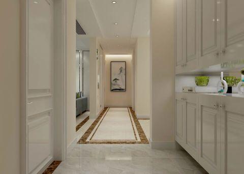 玄关白色隐形门现代简约风格装饰效果图