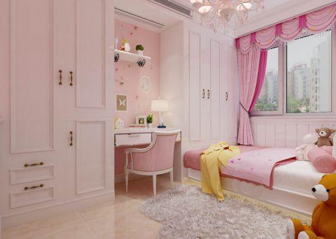 卧室粉色背景墙现代简约风格装修设计图片