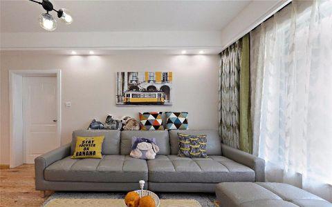 翰林院87平现代简约风格三居室装修效果图