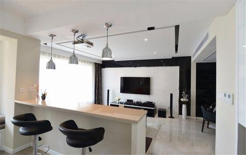客厅米色吧台现代风格装饰图片