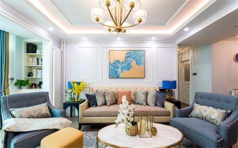 富力尚悦居116平现代风格两室两厅一卫装修效果图