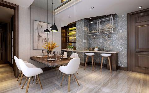 餐厅彩色吧台现代简约风格效果图