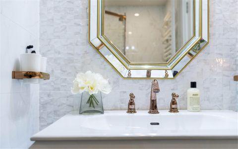 卫生间白色背景墙现代简约风格装饰设计图片