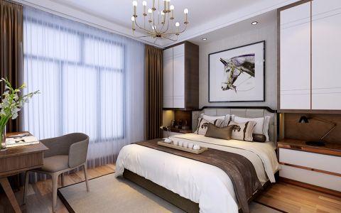卧室白色窗帘现代简约风格装修效果图