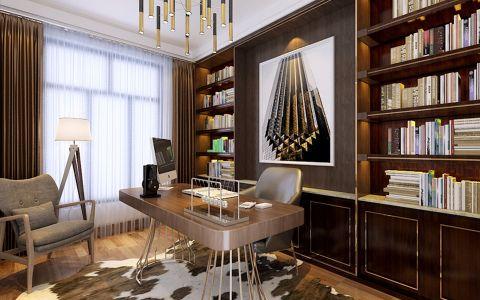 书房彩色博古架现代简约风格装饰效果图