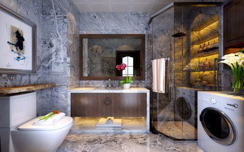 卫生间彩色细节现代简约风格装修图片