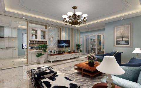 客厅吊顶美式风格装饰图片