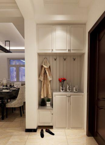 玄关红色门厅简欧风格装修设计图片