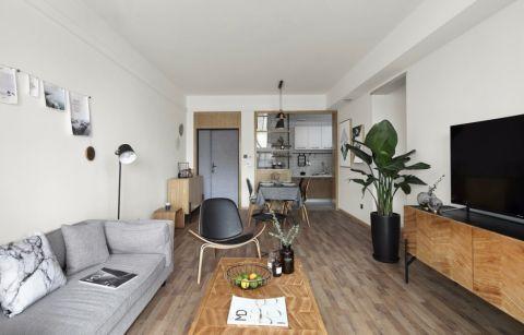 卧室米色照片墙北欧风格装潢设计图片