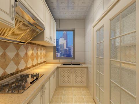 厨房推拉门欧式风格装修效果图
