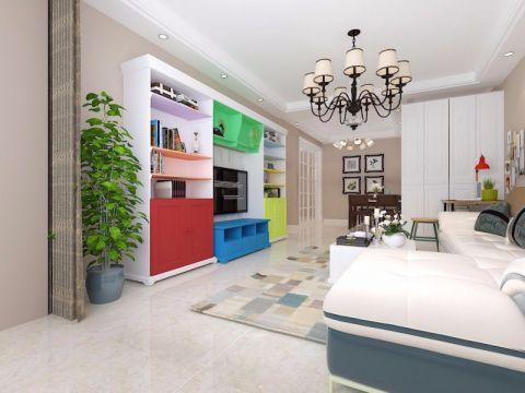 万达华府120平现代简约风格楼房装修效果图