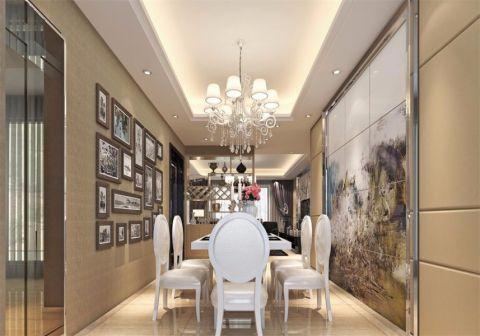 餐厅黄色背景墙现代风格装修效果图