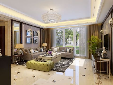 客厅白色细节现代简约风格装修效果图