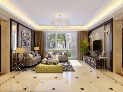 客厅白色细节现代简约风格装潢效果图